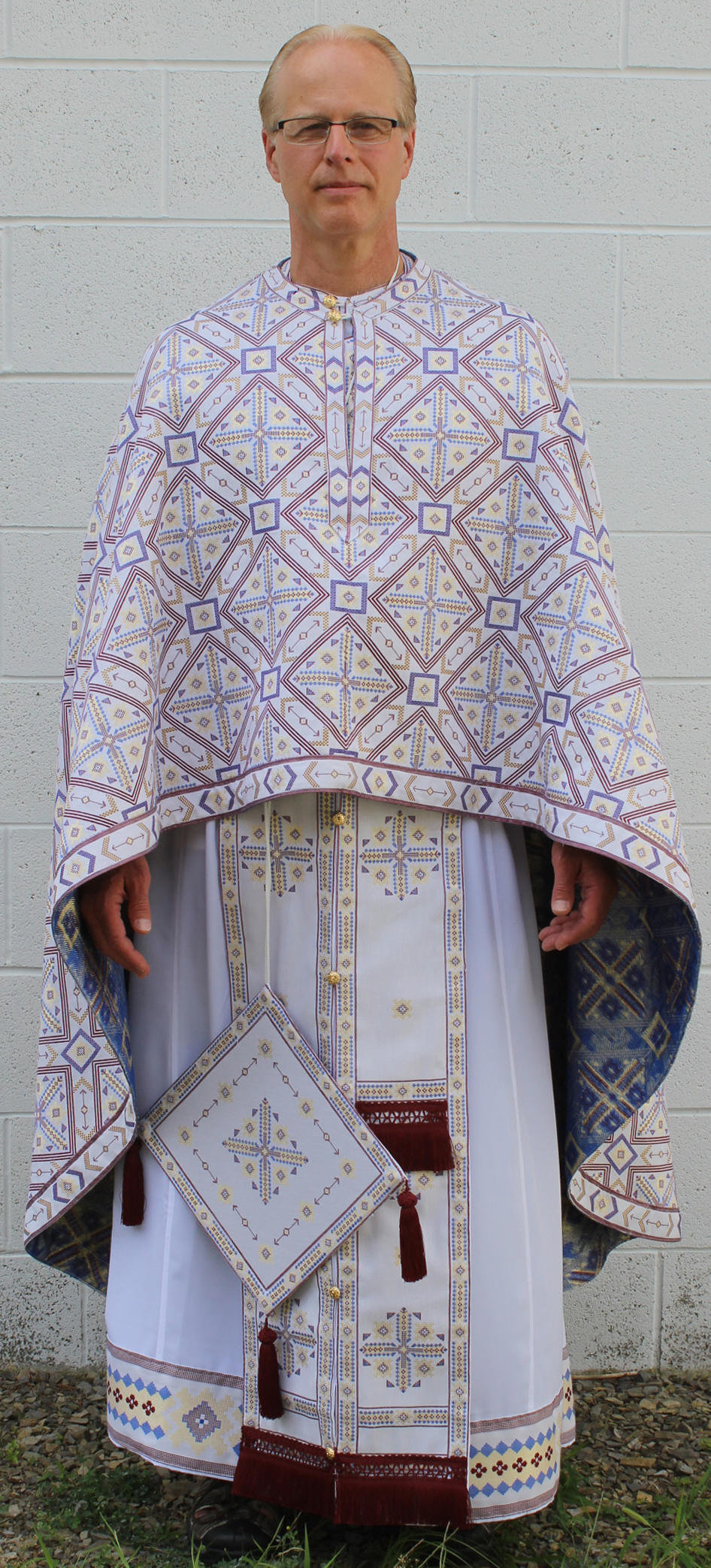 Tri Color Priest Vestments