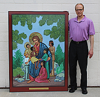 ONI-5A Christ with Children Icon