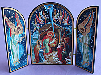 IR444 Nativity Icon Triptic