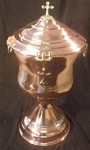 #B-116CT Copper Batismal Font with Cover